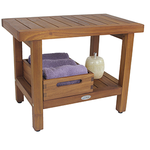 Teak Shower Bench | Teak Bath Stool | Teak Furniture - Aqua Teak